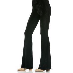 American Rag black velvet flare leggings pants XS